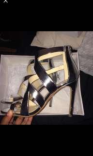 Steve Madden silver patent heels