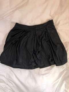 Pleather black skirt