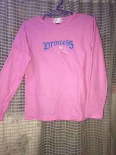 Branded princess long sleeves top