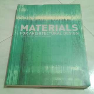 Materials for architectural design - book