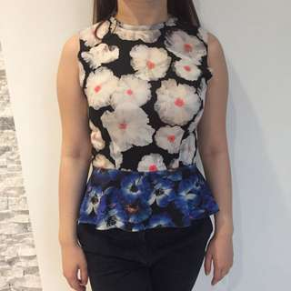 Zara Top Peplum S