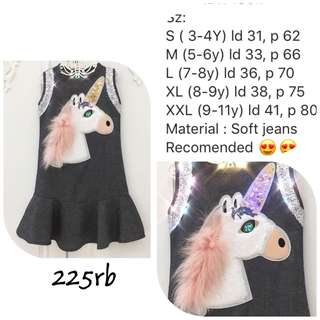 Unicorn soft jeans dress