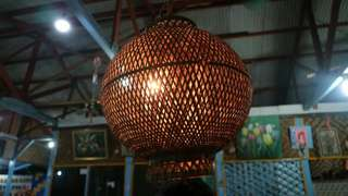 Lampion Anyaman Kayu