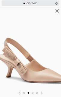 "Authentic ""J""ADIOR Heeled Shoe in Nude"