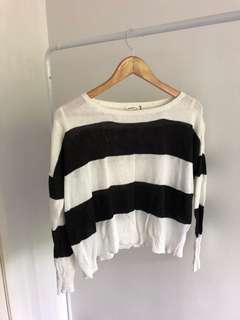 Stripe knitted shirt