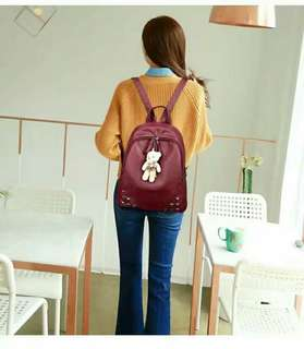 Korean backpack 3in1   P 650 good quality size:13 inches