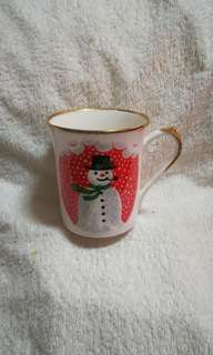 Vintage Christmas Snowman Fine Bone China Mug by Queen's