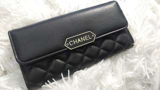 Inspired Chanel Black Leather Wallet Brand New!