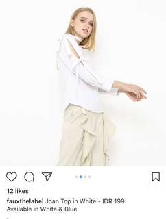 Fauxthelabel white top