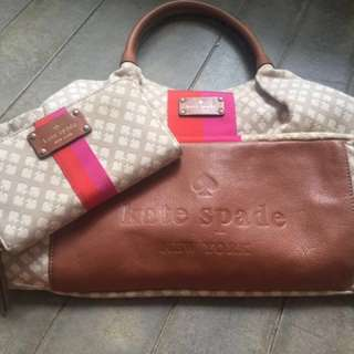 Kate Spade Diaper Bag and wallet set