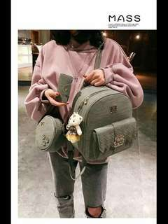 Korean backpack 3in1 P650 good quality size:12 inches