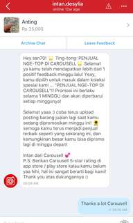 Thanks a lot Carrousell 🇮🇩