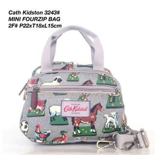 Tas Wanita Cath Kidston Selempang Mini Four Zipped Bag 3243 - 5