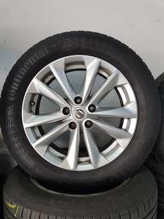 17 Inch 5x114.3 Used Rim & Tyre