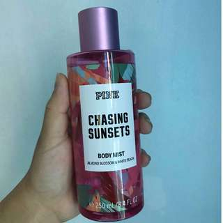 Authentic PINK LIMITED EDITION CHASING SUNSET Fragrance Body Mist