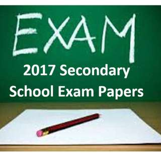 CHEAPEST! 2017 Secondary 4 Papers