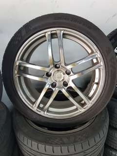 18 Inch 5x114.3 Japan Used Rim & Tyre