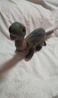 Vintage Baby Brachiosaurus Plush Dinosaur Toy