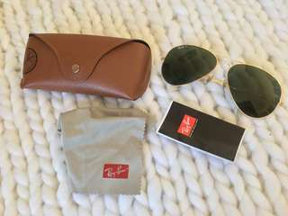 Authentic Rayban Aviator RB3025 Polarized