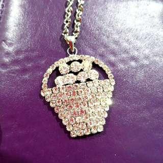 Clear Stock Women Necklace Diamond Rhinestone Fashion Style