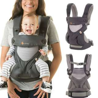 Ergobaby 360 Cool Air Four Position Baby Carrier - Carbon Grey