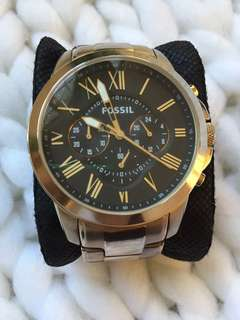 Authentic Fossil oversized Chronograph watch