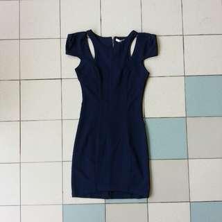 Bodycon Midi Dress Dark Blue