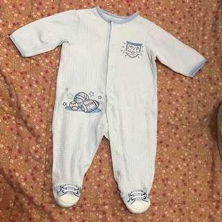 Light Blue Baby Romper Onesie Bodysuit Sleepsuit