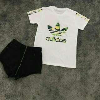 Kaos import hongkong adidas