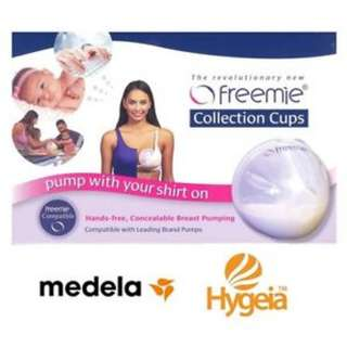 Freemie Collection Cups hand-free concealable Breast pumping
