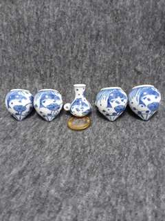 Mata puteh hand painted porcelain cups