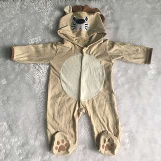 Lion baby costume overall