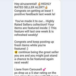 Thank you carousell for the feedback!