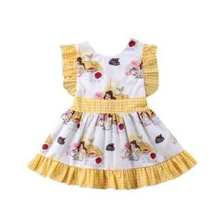 Beauty and the Beast Bella Flutter Sleeve Dress