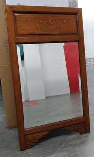 Antique Solid Teakwood Mirror