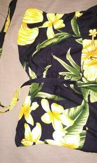 Baju Dress panjang motif bunga
