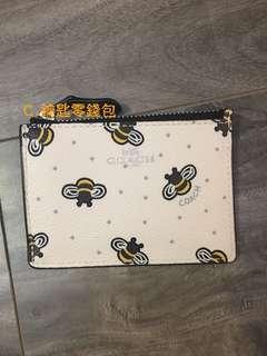 🚚 Ariel美國代購 Coach 鑰匙零錢包 限量款 蜜蜂