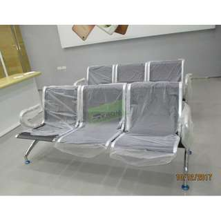 SEATER BLACK CHROME GANG CHAIRS--KHOMI