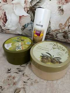 Take All Wardah Body Scrub, Olive Body Scrub Mustika Ratu & Pantene Conditioner