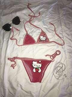 Hello Kitty Sanrio 12-24mos Cute Triangle Bikini Swimsuit