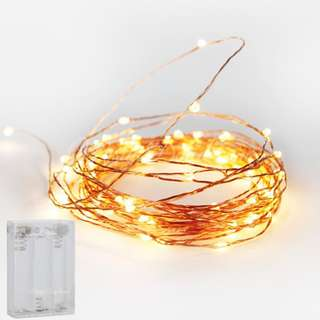 Copper Wire Fairy Lights – Warm White (Battery operated)