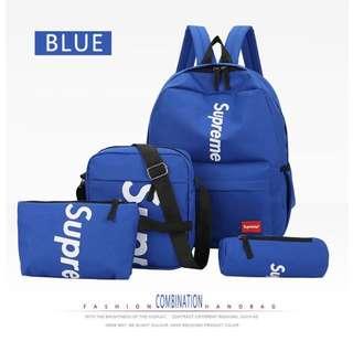 Backpack supreme 4 pcs shoulder bag set
