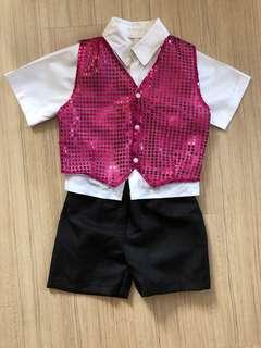 3 pieces: shirt, pants and vest