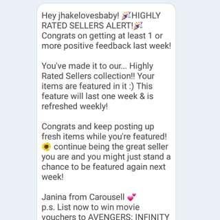 5th Thank you carousell