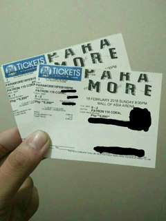 2 Patron Tickets Paramore PH Concert
