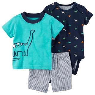 Carter's 3 in 1 Blue Dino Set