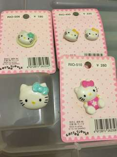 Sanrio Hello Kitty 鈕扣 中古