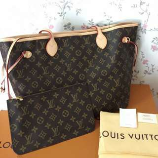 SALE LOUIS VUITTON NEVERFULL MM COMPLETE