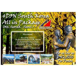 4D3N South Korea All In Tour Package  (Mt. Seorak - Seoul)