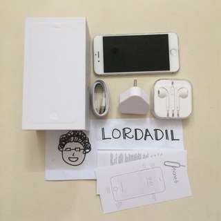 IPhone 6 64Gb Silver Fullset Bagus